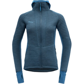 Devold Tinden Spacer Capuchon Jas Dames, blue